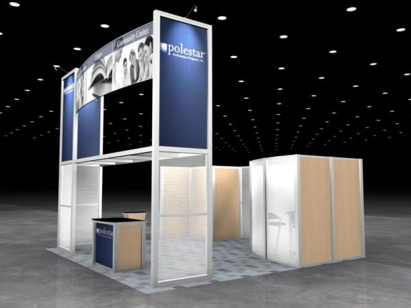 RE-9026 Rental Exhibit / 20� x 20� Island Trade Show Display � Image 2