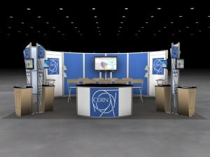 RE-9065 Rental Exhibit / 20' x 20' Island Trade Show Display - Image 1